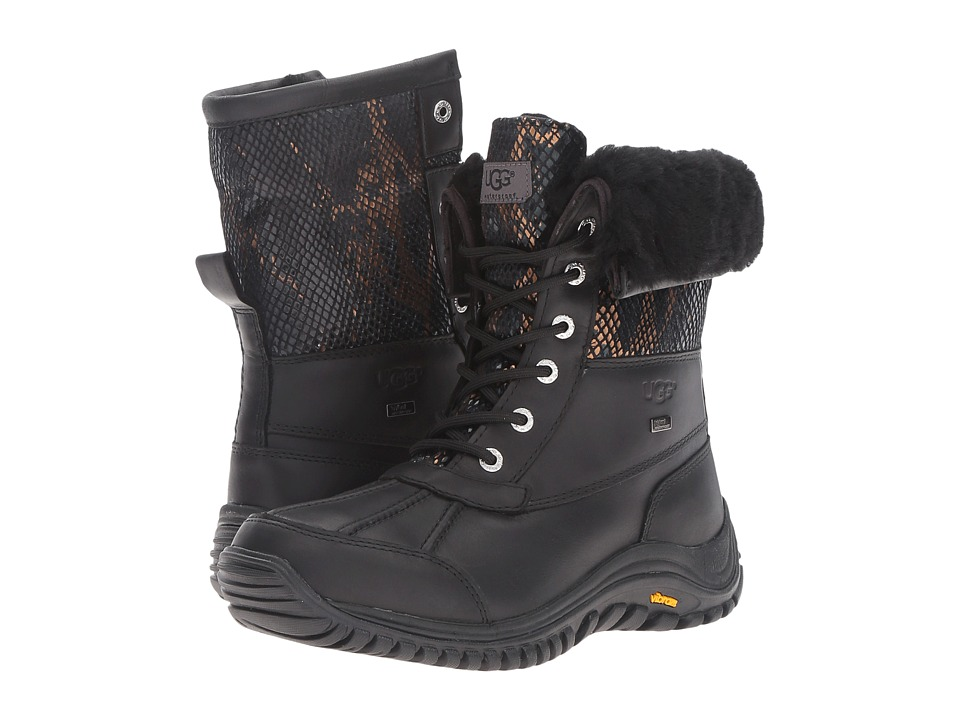 UGG - Adirondack II Exotic Velvet (Black) Women's Pull-on Boots