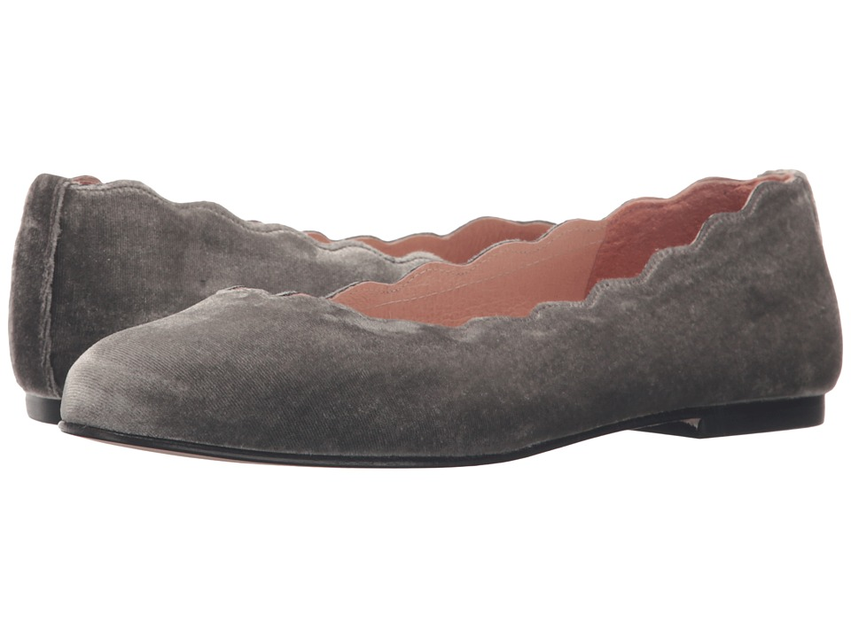French Sole - Jigsaw (Grey Velvet) Women's Flat Shoes