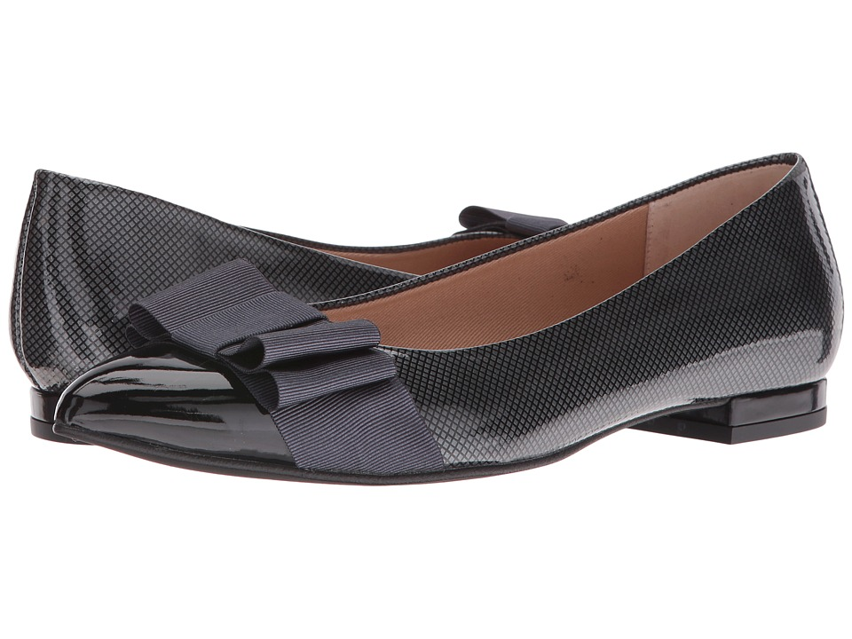 French Sole Onstage (Black/Grey Suede/Patent) Women