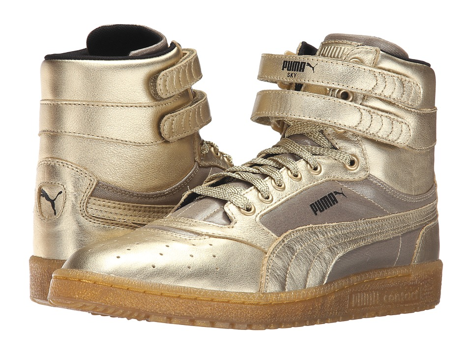PUMA - Sky II Hi Metallic (Metallic Gold) Men's Shoes