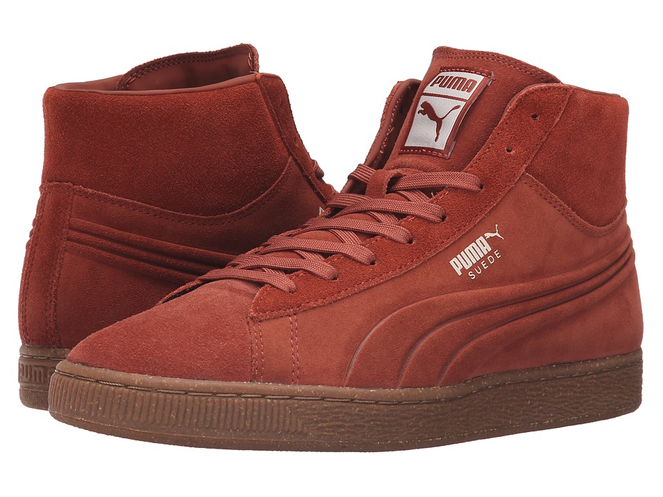PUMA - Suede Mid Emboss Mixed Rubber (Arabian Spice/Oatmeal) Men's Shoes