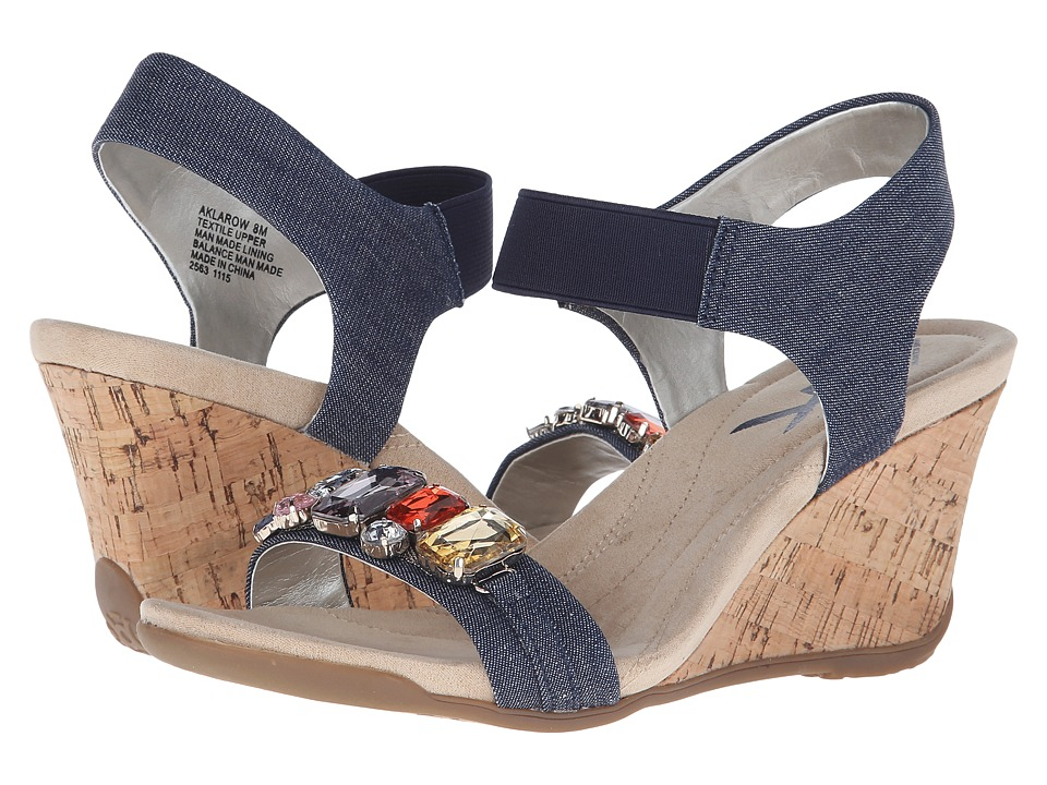 Anne Klein - Larow (Medium Blue/Medium Blue Fabric) Women's Sandals