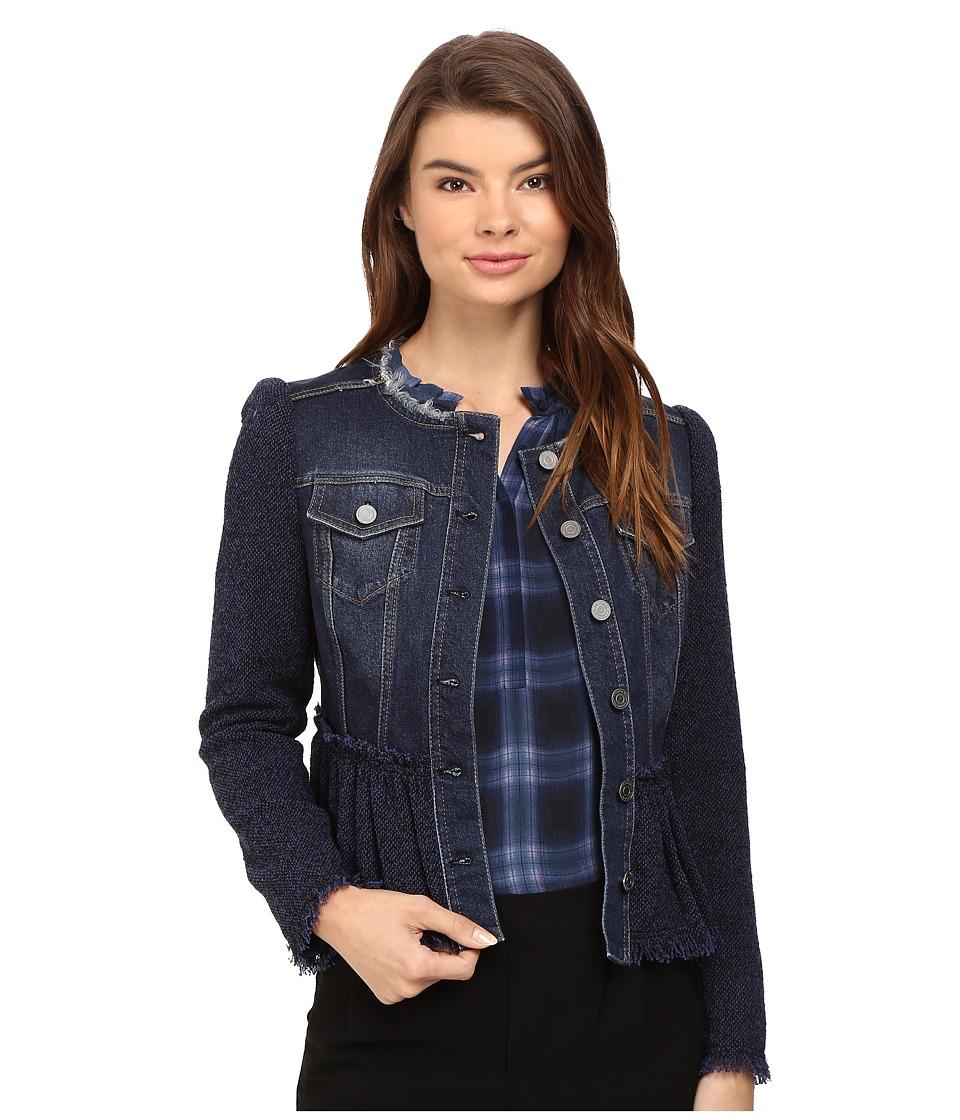 Rebecca Taylor - Tweed Denim Jacket (Violet Stone Combo) Women's Coat