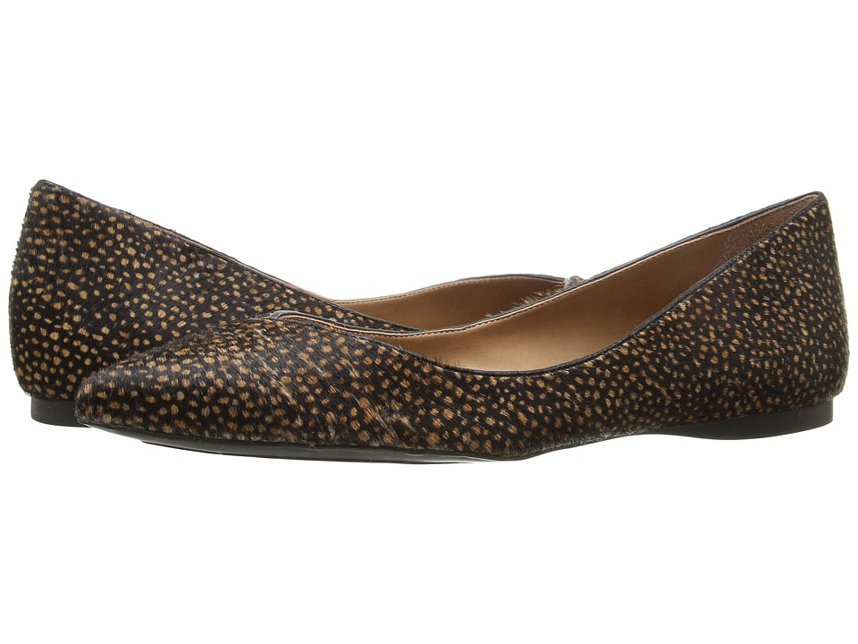French Sole - Peppy (Black Polo Haircalf) Women's Flat Shoes