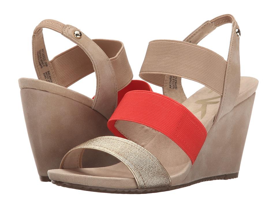 Womens Sandals Anne Klein Taree Gold Multi Fabric