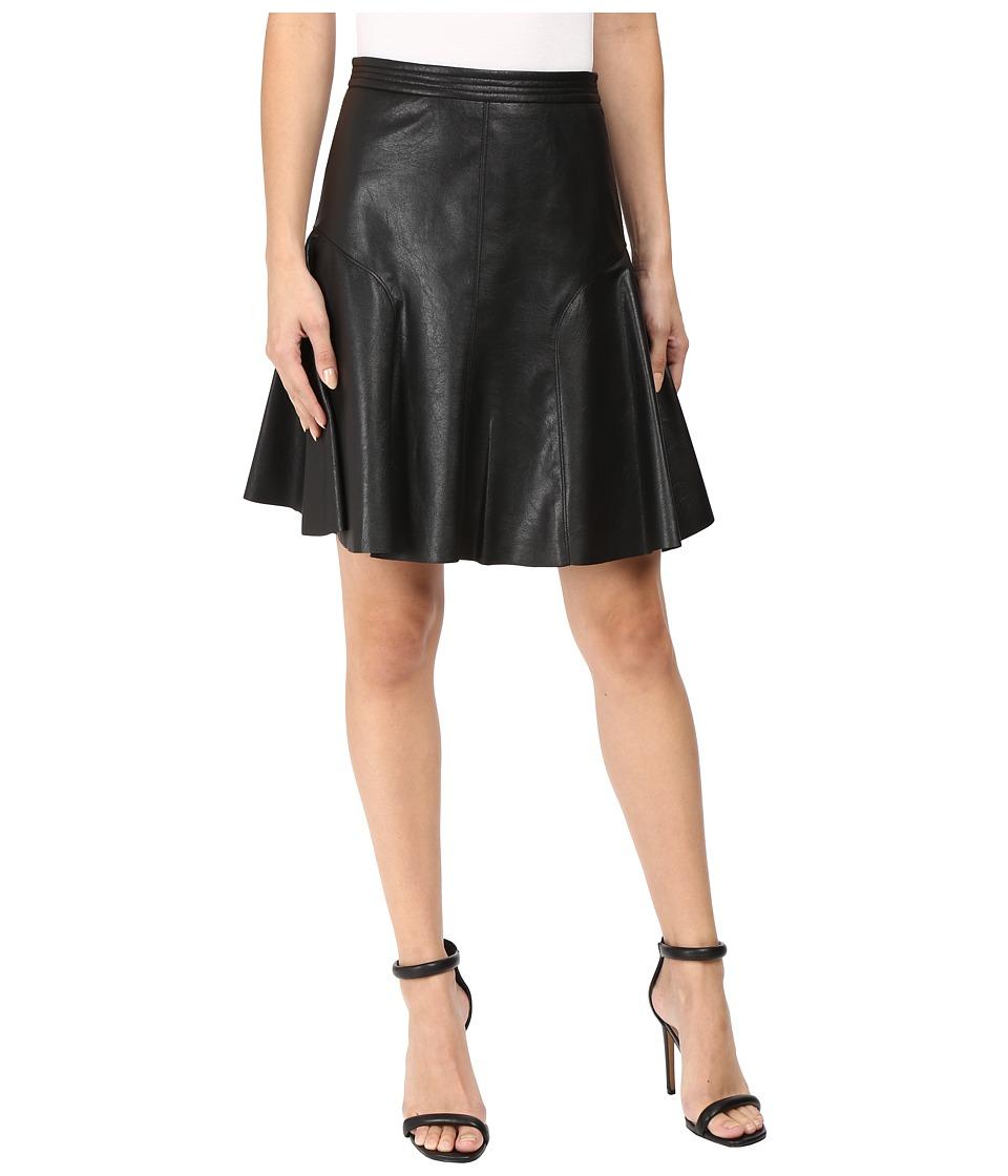 Rebecca Taylor - Vegan Leather Skirt (Black) Women's Skirt