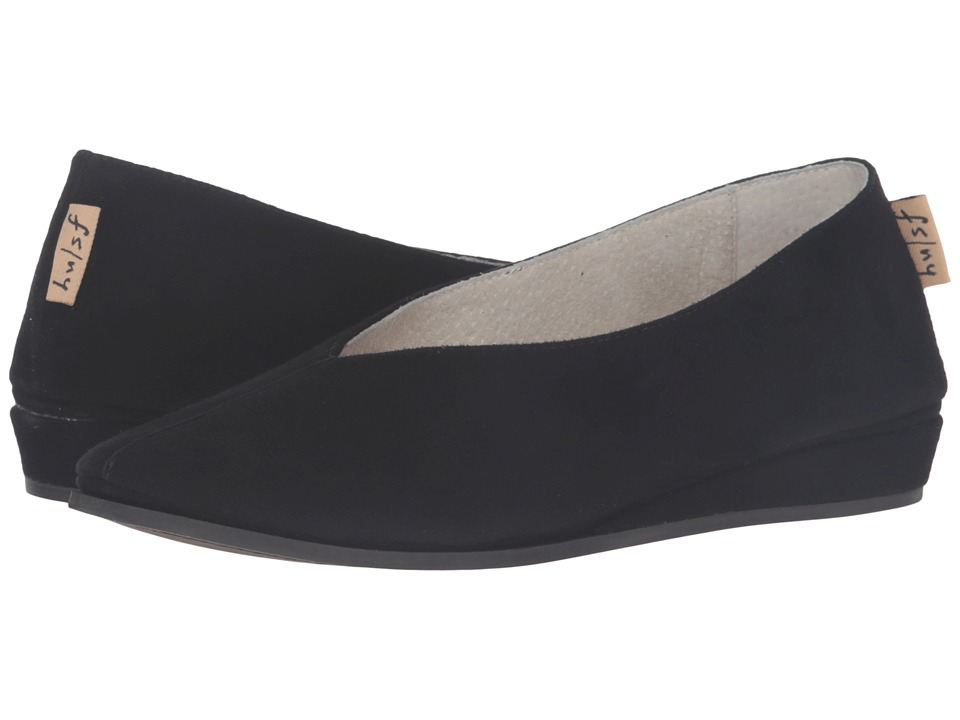 French Sole Split (Black Suede) Women