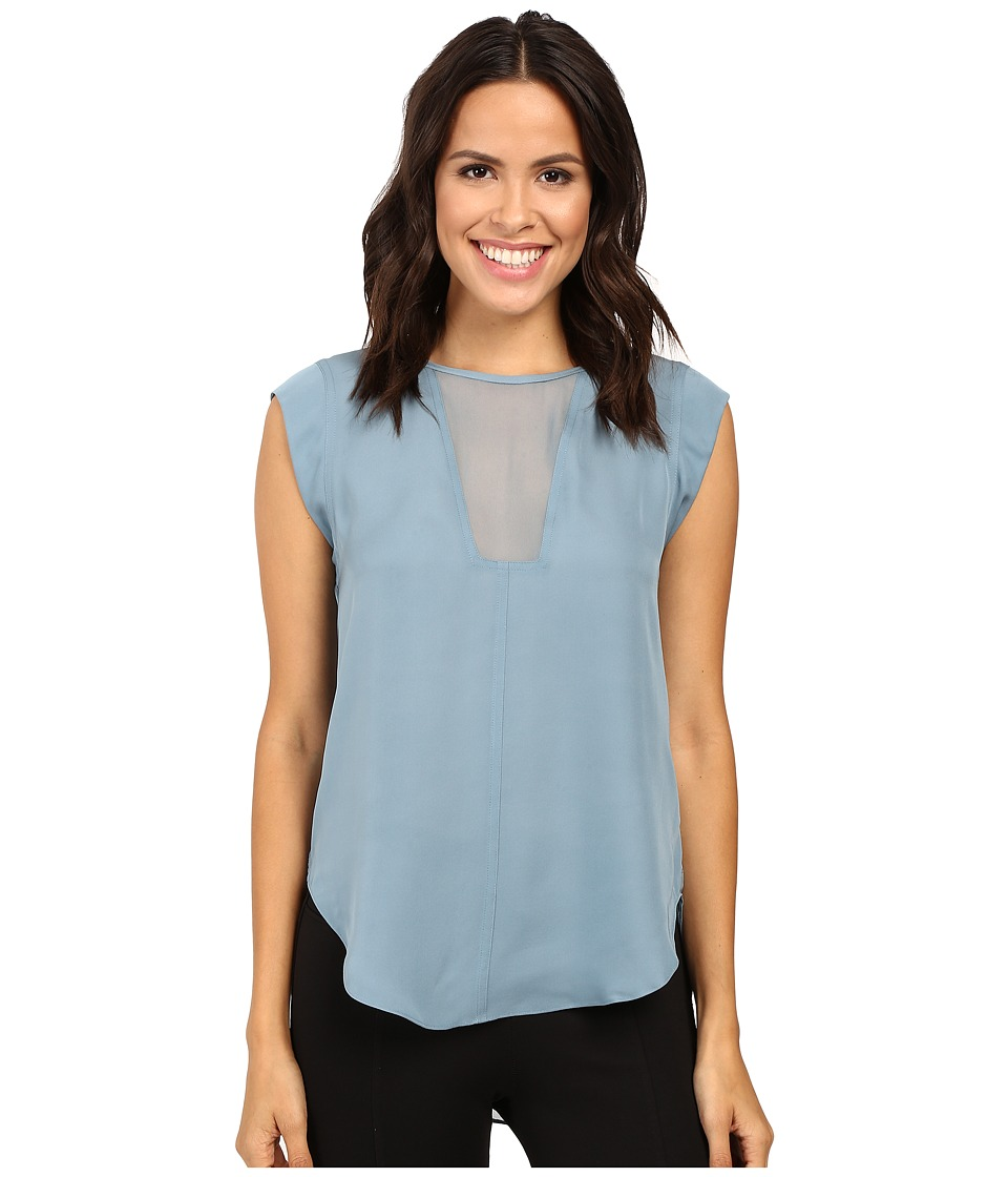 Rebecca Taylor - Charlie Top (Dusty Teal) Women's Clothing