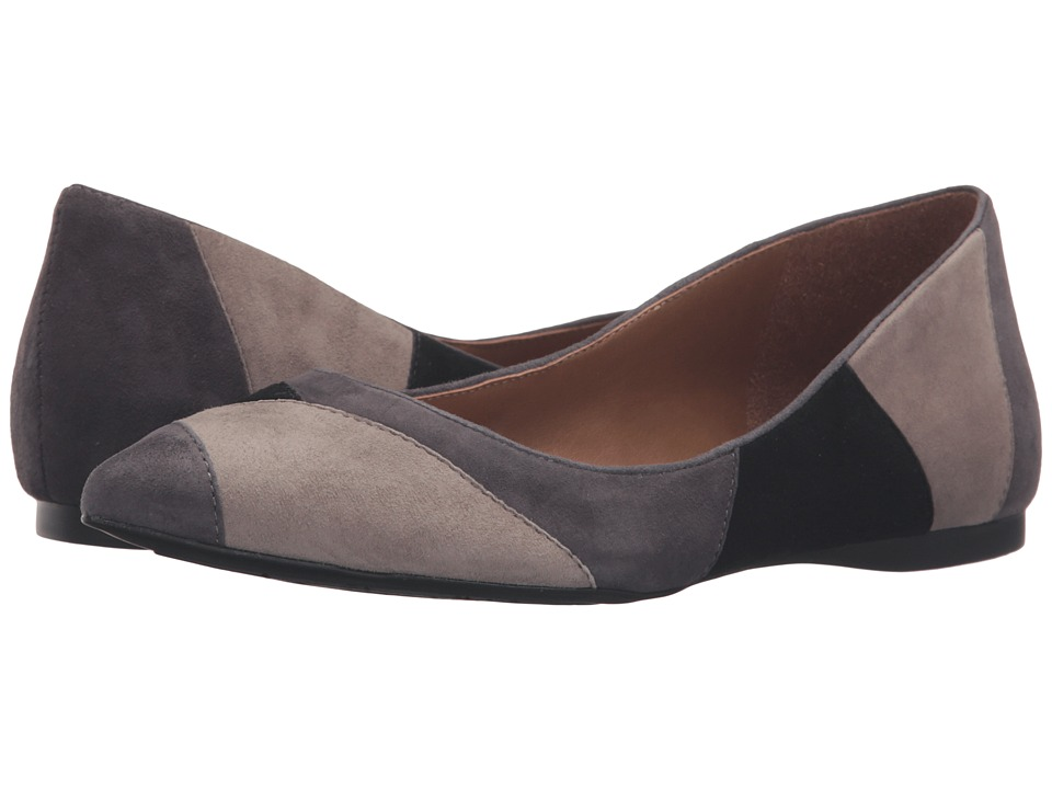 French Sole - Star (Grey/Taupe/Black Suede) Women's Dress Flat Shoes