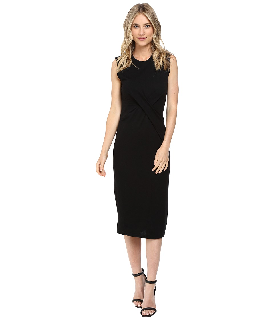 Rebecca Taylor - Jersey Wrap Dress (Black) Women's Dress