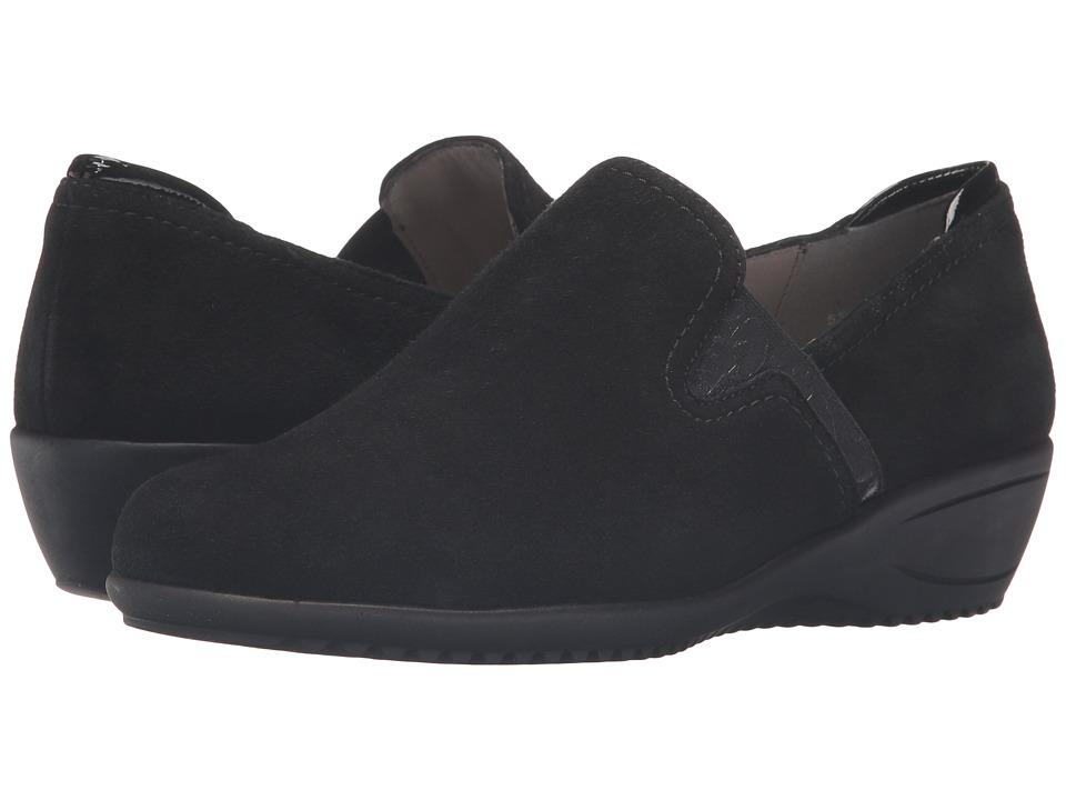 ara - Lilli (Black Suede/Patent) Women's Shoes
