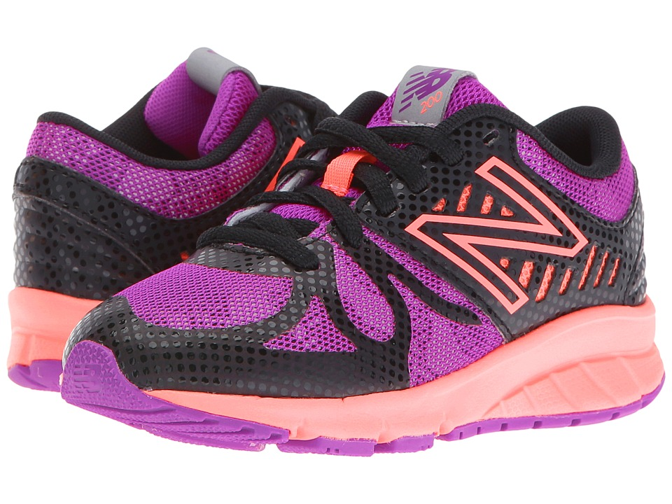 New Balance Kids - KJ200v1 (Little Kid) (Black/Pink) Girls Shoes