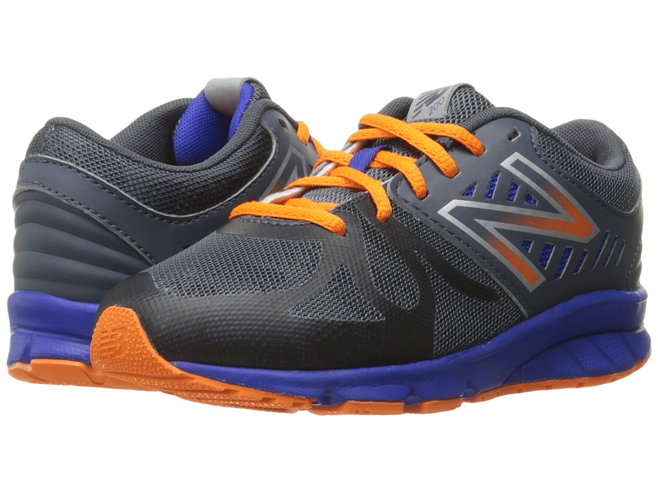 New Balance Kids - KJ200v1 (Little Kid) (Grey/Orange) Boys Shoes