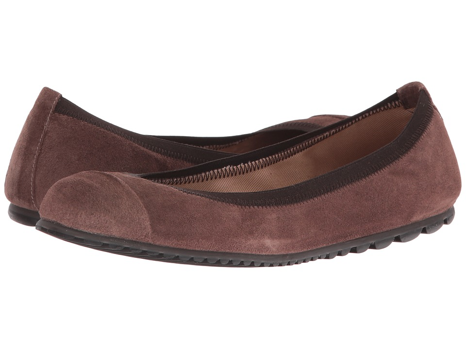 French Sole - Tempo (Taupe Velour Suede) Women's Flat Shoes