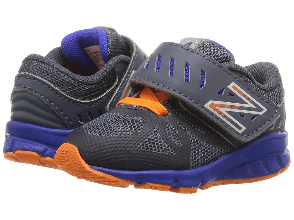 New Balance Kids - KV200v1 (Infant/Toddler) (Grey/Orange) Boys Shoes