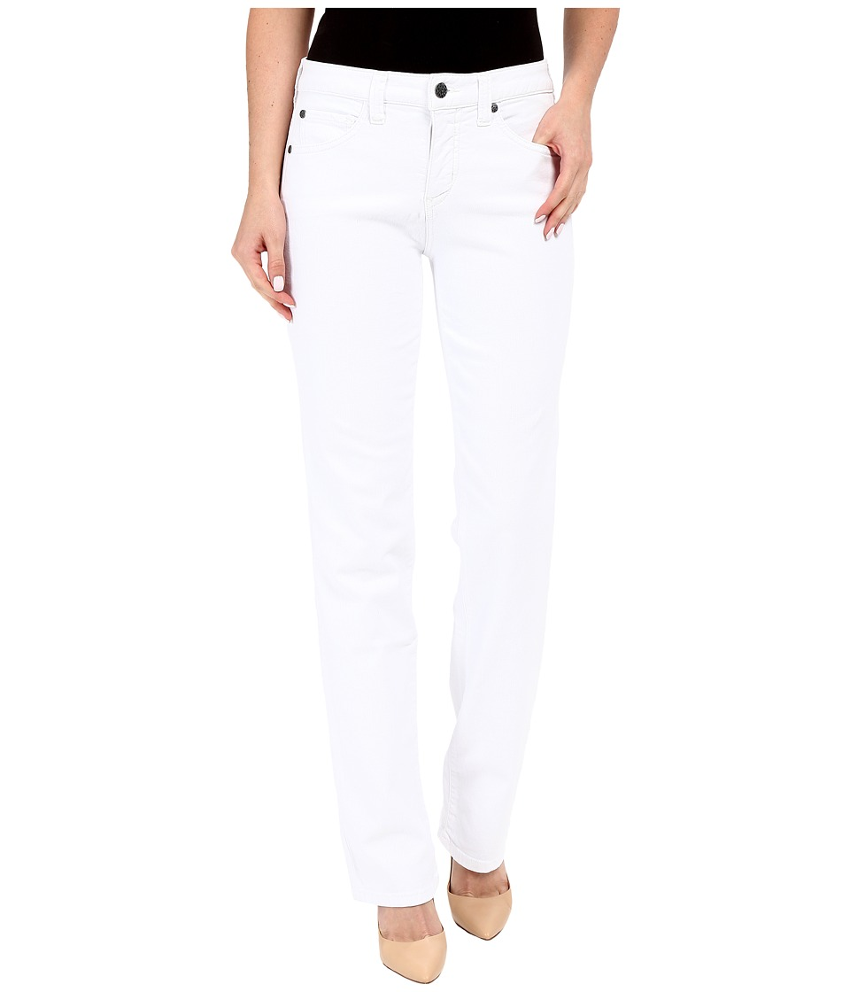 Miraclebody Jeans Five-Pocket Abby Straight Leg Jeans in White (White) Women