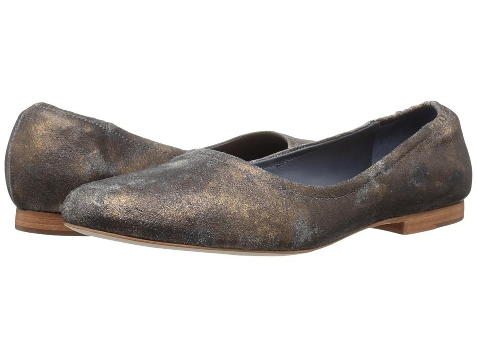 Image of Bernardo - Dina (Distressed Metallic Calf) Women's Flat Shoes