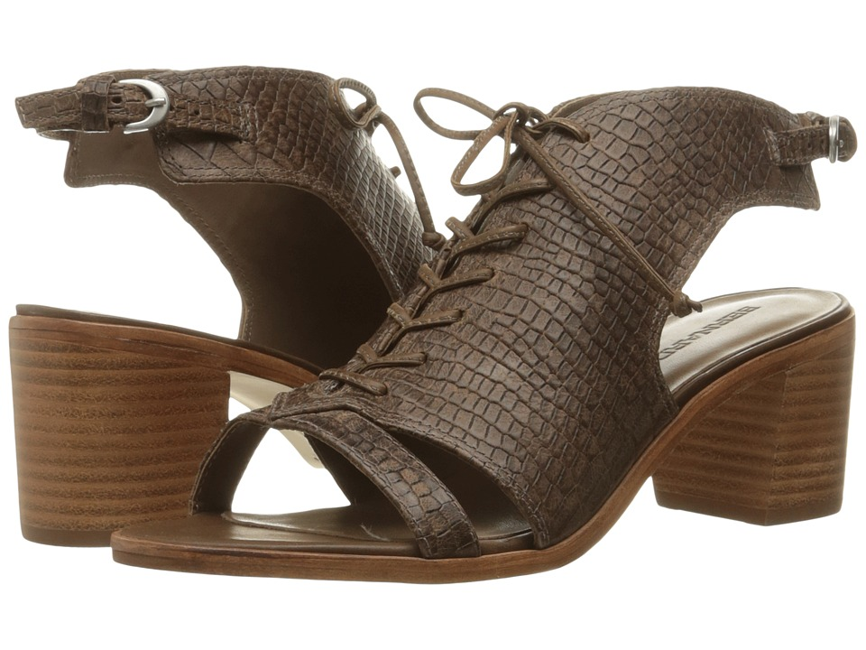 Bernardo - Bounty (Dark Taupe Crocco Print Calf) Women's Sandals