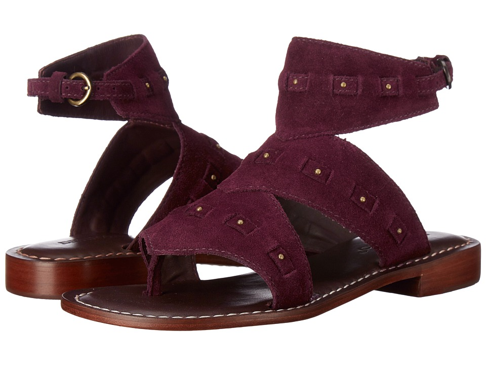 Bernardo - Teddi (Bordeaux Suede) Women's Sandals