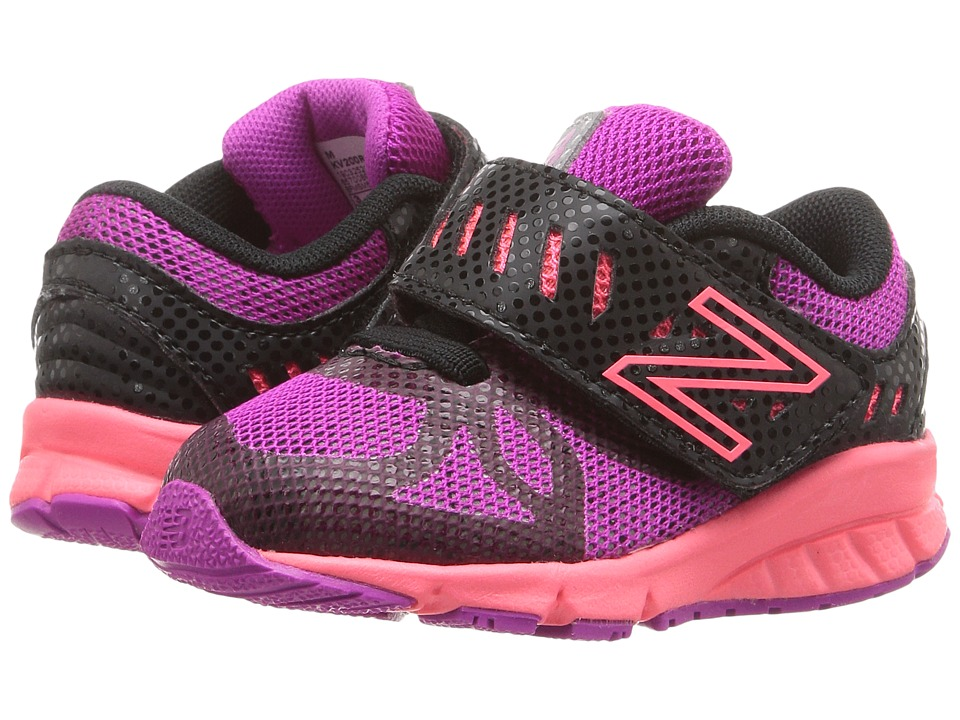 New Balance Kids - KV200v1 (Infant/Toddler) (Black/Pink) Girls Shoes