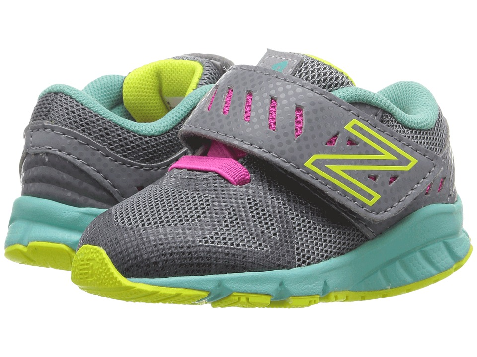 New Balance Kids - KV200v1 (Infant/Toddler) (Grey/Green) Girls Shoes