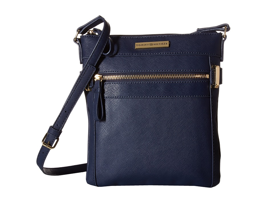 Tommy Hilfiger - Savanna - North/South Crossbody (Navy) Cross Body Handbags