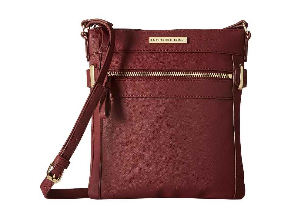 Tommy Hilfiger - Savanna - North/South Crossbody (Cabernet) Cross Body Handbags