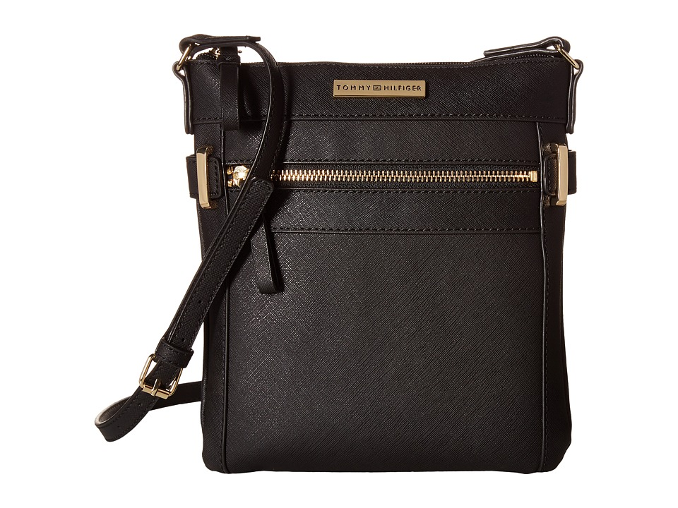 Tommy Hilfiger - Savanna - North/South Crossbody (Black) Cross Body Handbags