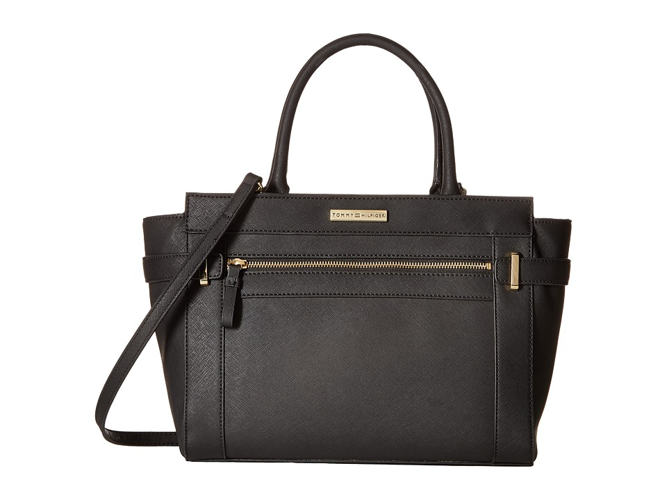 Tommy Hilfiger - Savanna - Convertible Shopper (Black) Convertible Handbags