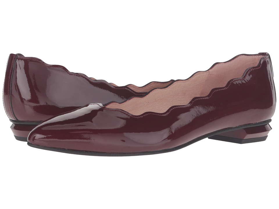 French Sole - Tequila (Burgundy Patent) Women's Flat Shoes