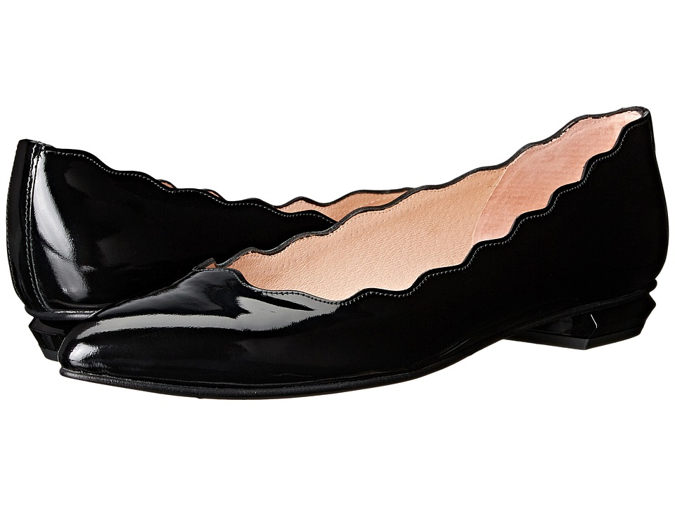 French Sole - Tequila (Black Patent) Women's Flat Shoes
