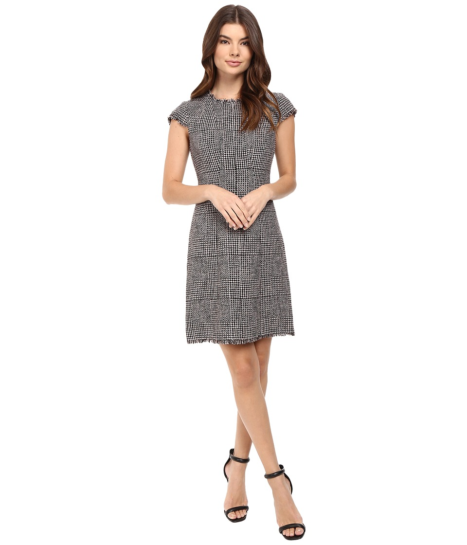 Rebecca Taylor Houndstooth Dress (Teaberry Combo) Women