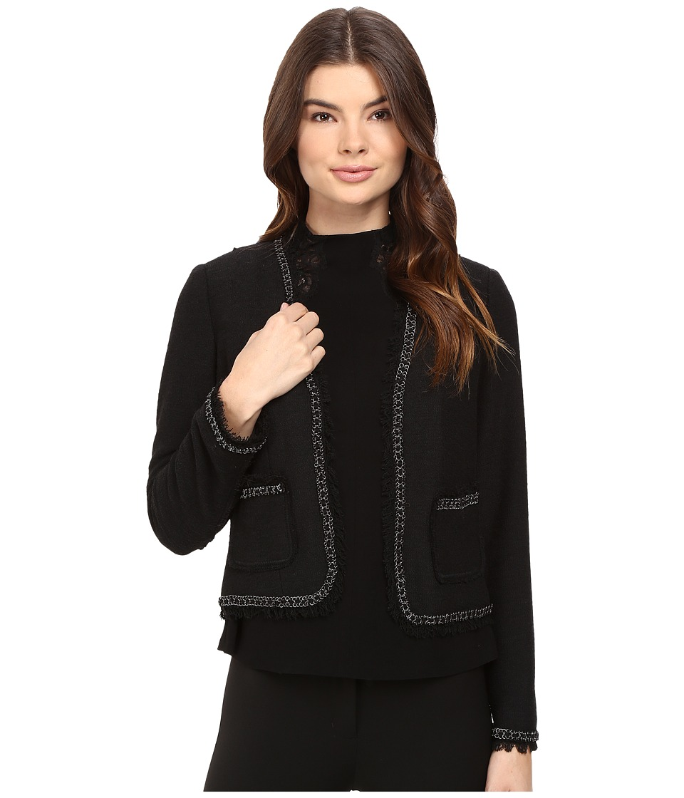 Rebecca Taylor - Stretch Boucle Jacket (Black Combo) Women's Coat