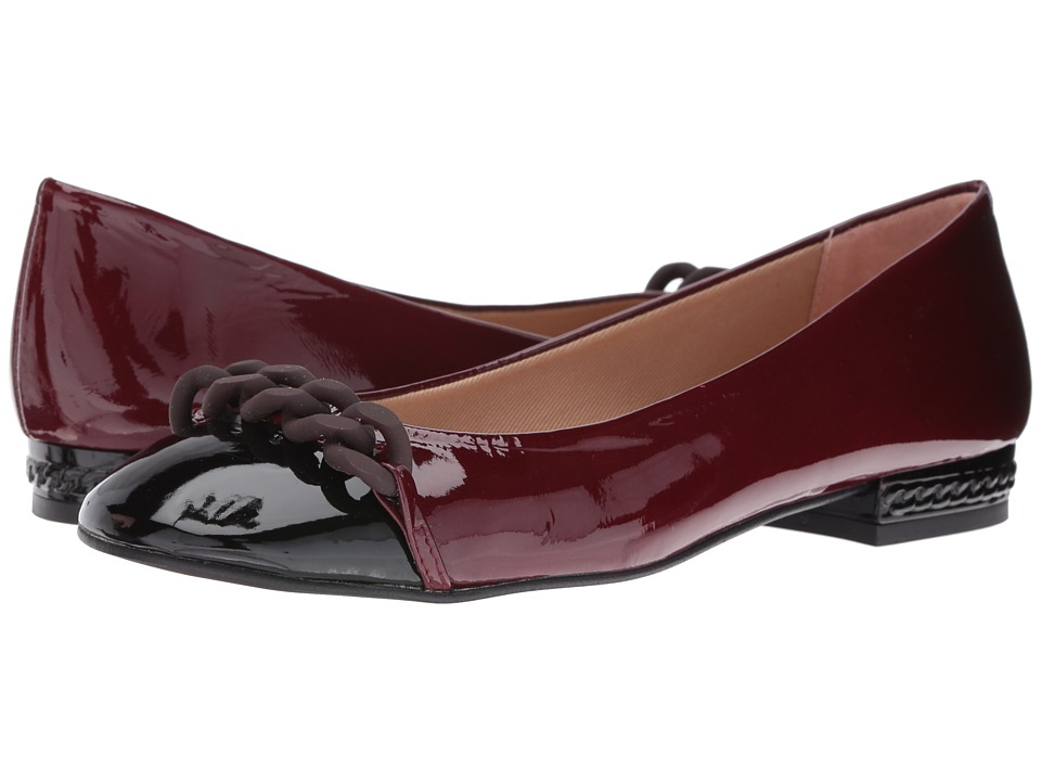 French Sole Tumble (Black/Wine Patent) Women