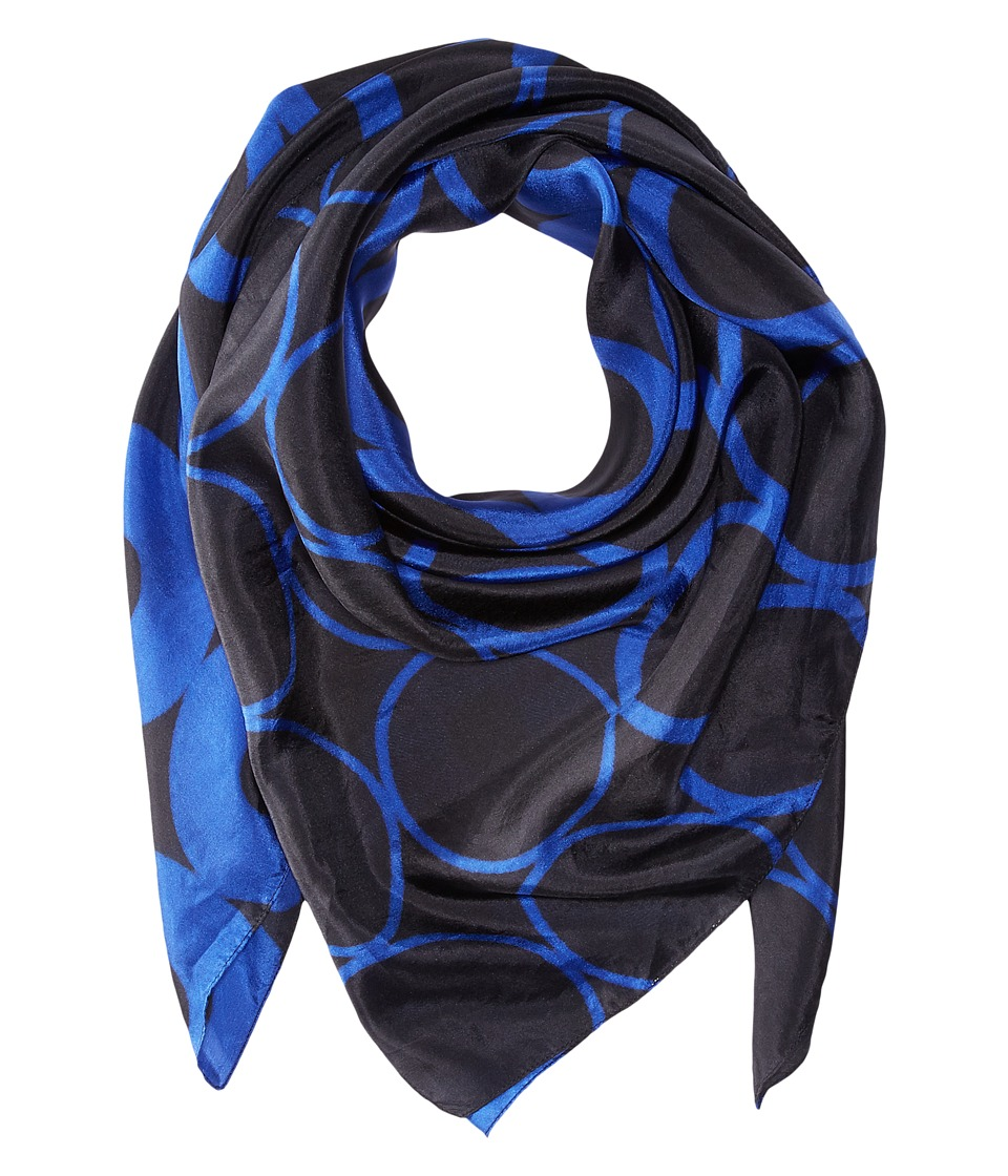 Bindya - Lulla by Bindya Optical Print 1 (Black/Blue) Scarves