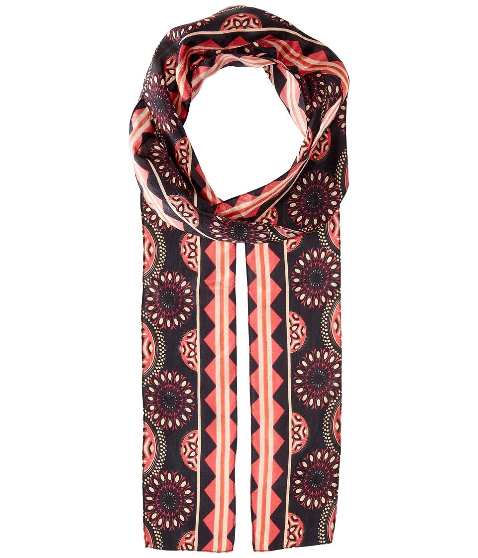 Bindya - Lulla by Bindya Circle Print 1 (Red/Black) Scarves