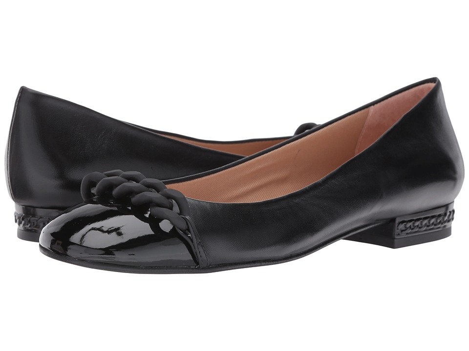 French Sole Tumble (Black Patent/Nappa) Women