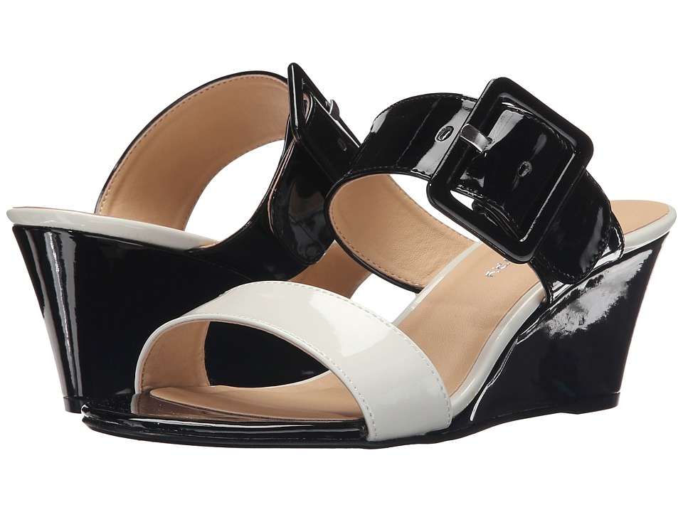 CL By Laundry - Tonya (White/Black Patent) Women's Wedge Shoes