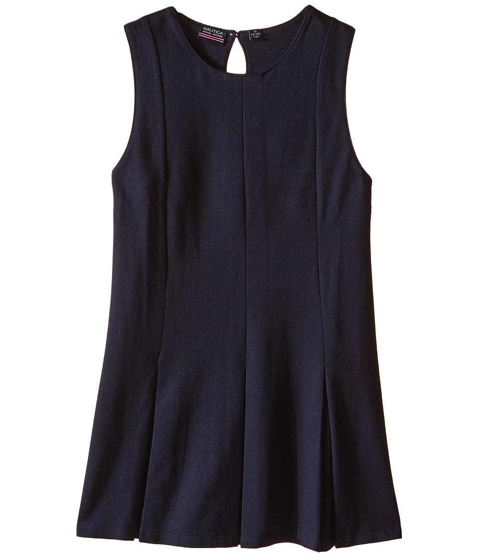 Nautica Kids - Girls Plus Sleeveless Pleat Dress (Big Kids) (Su Navy) Girl's Dress