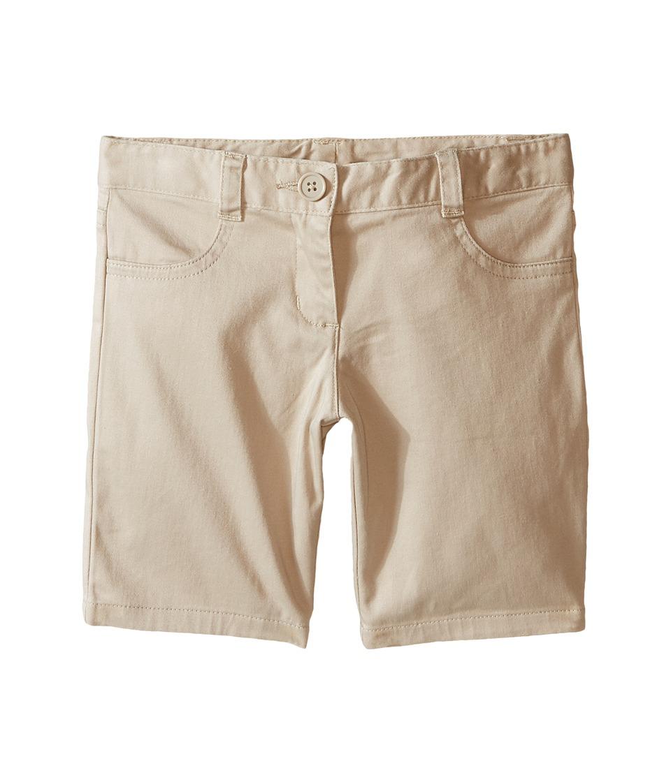Nautica Kids - Girls Plus Five-Pocket Shorts (Big Kids) (Su Khaki) Girl's Shorts