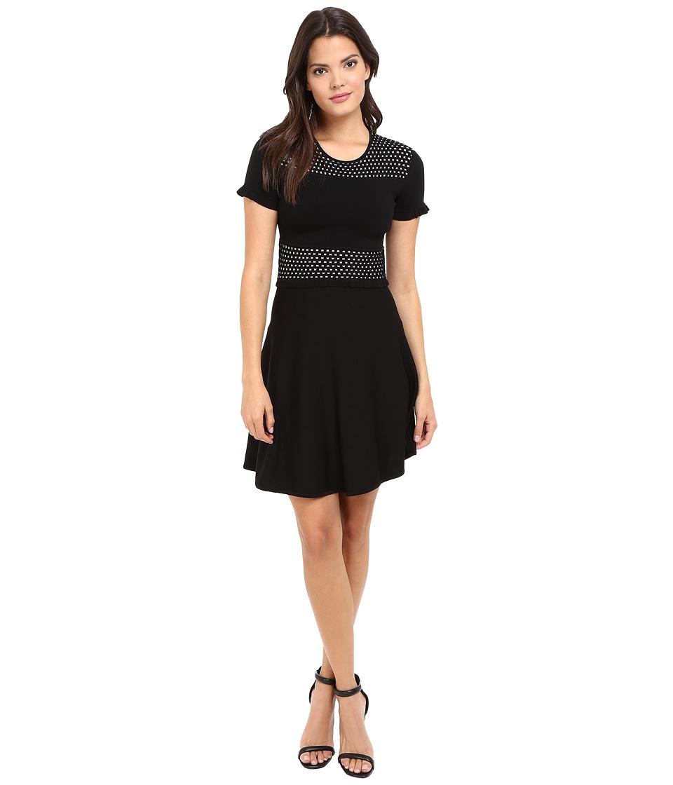 Shoshanna Annie Knit Dress (Jet/Ivory) Women