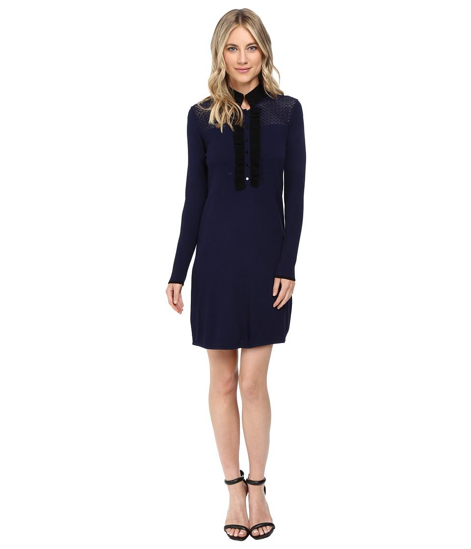 Shoshanna - Jenny Knit Dress (Navy/Black) Women's Dress