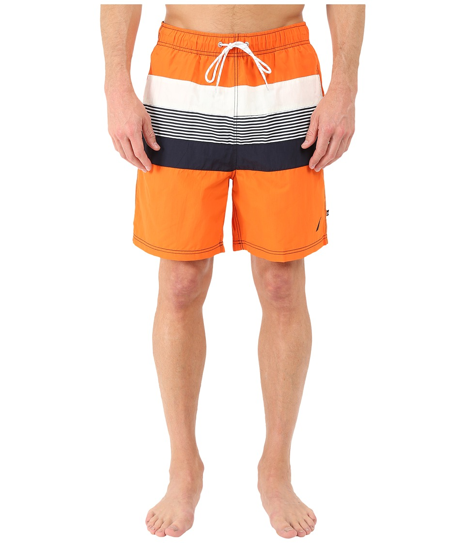 Nautica - Stripe Color Block Trunk (Fireside) Men's Swimwear