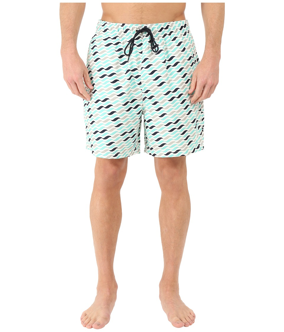 Nautica - Geo Wave Trunk (Sail Cream) Men's Swimwear
