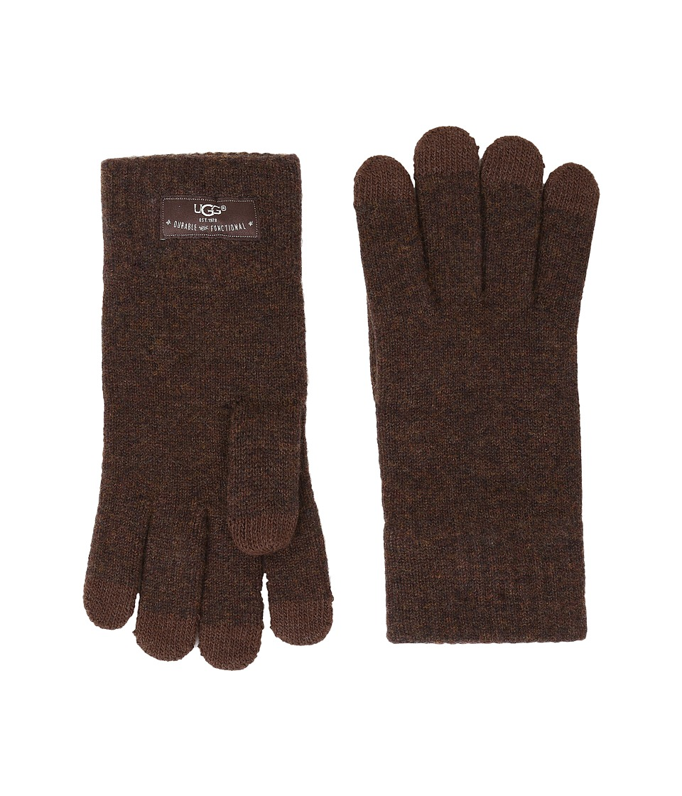 UGG - Tech Glove Brushed Lining (Stout Heather) Wool Gloves