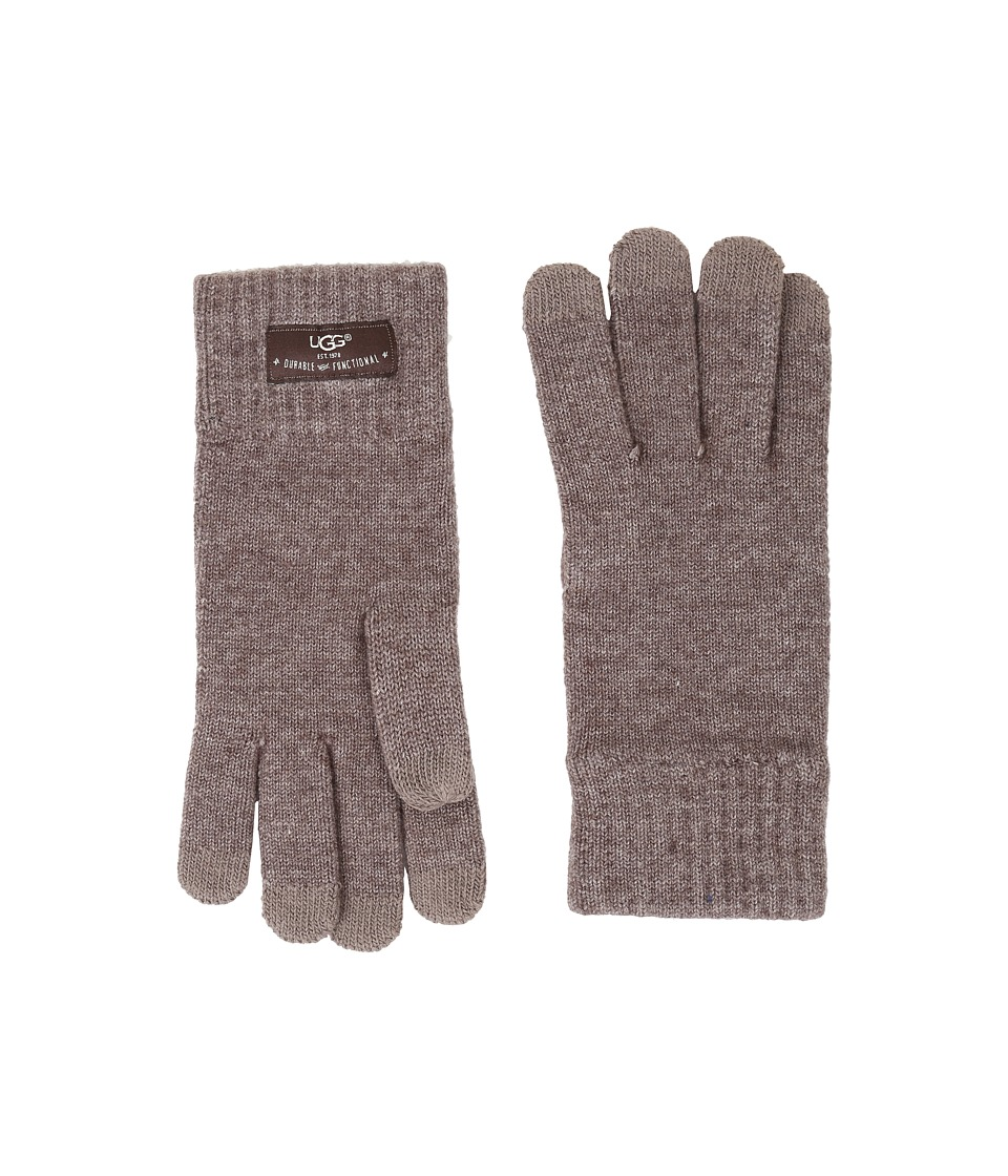 UGG - Tech Glove Brushed Lining (Fawn Heather) Wool Gloves