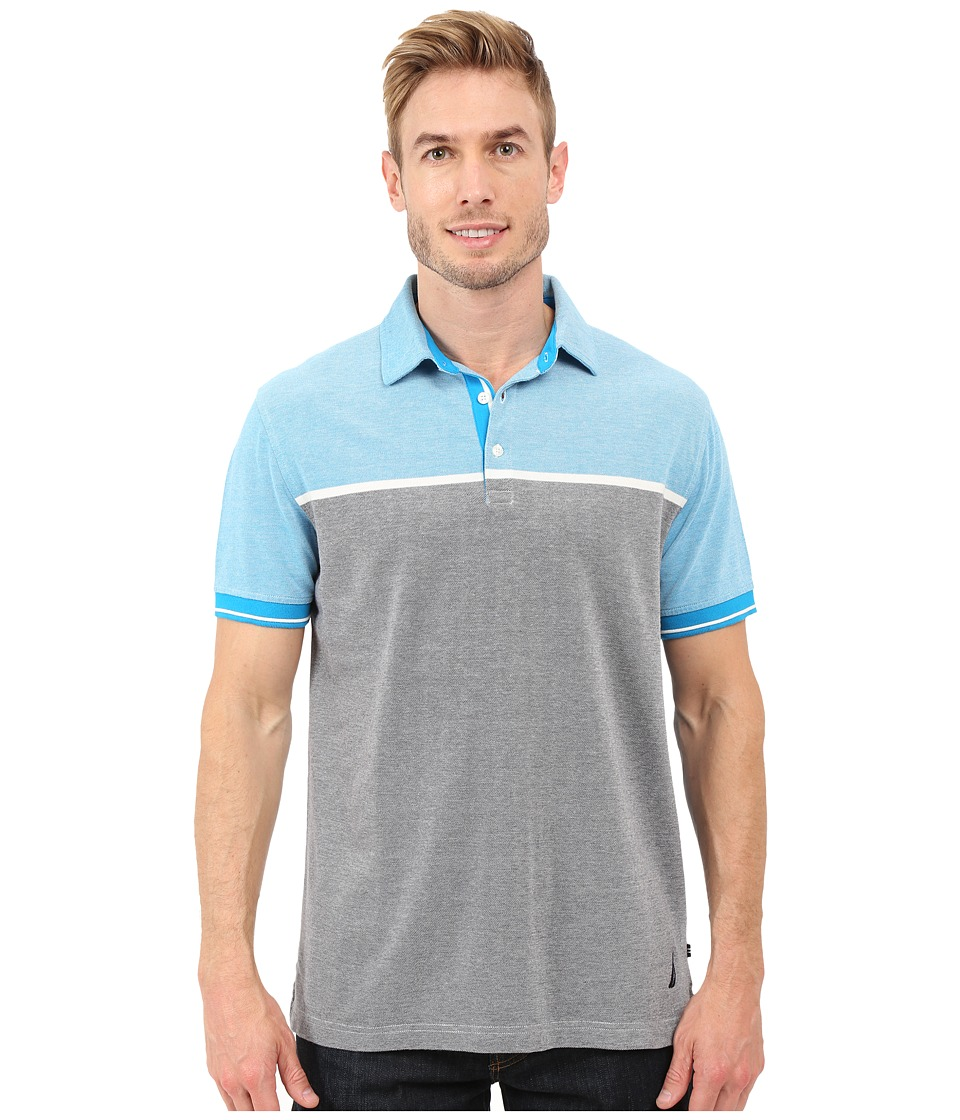 Nautica - Short Sleeve Engineered Oxford (Star Turquoise) Men's Short Sleeve Knit