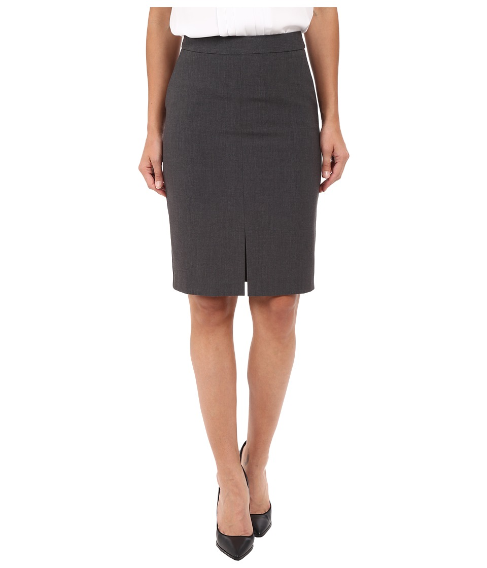 kensie - Heather Stretch Crepe Pencil Skirt KS2K6226 (Heather Dark Grey) Women's Skirt