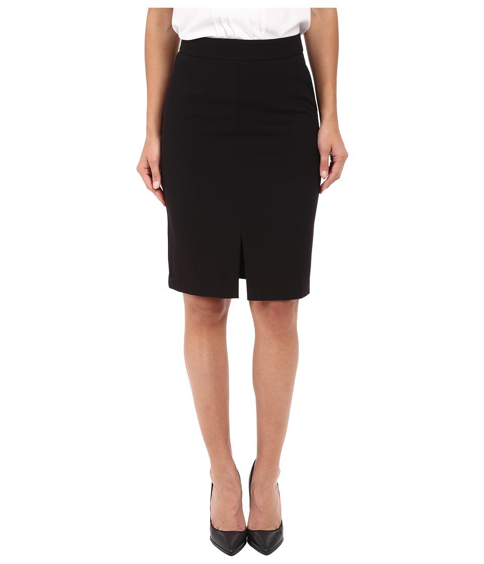 kensie Stretch Crepe Pencil Skirt KS2K6221 (Black) Women