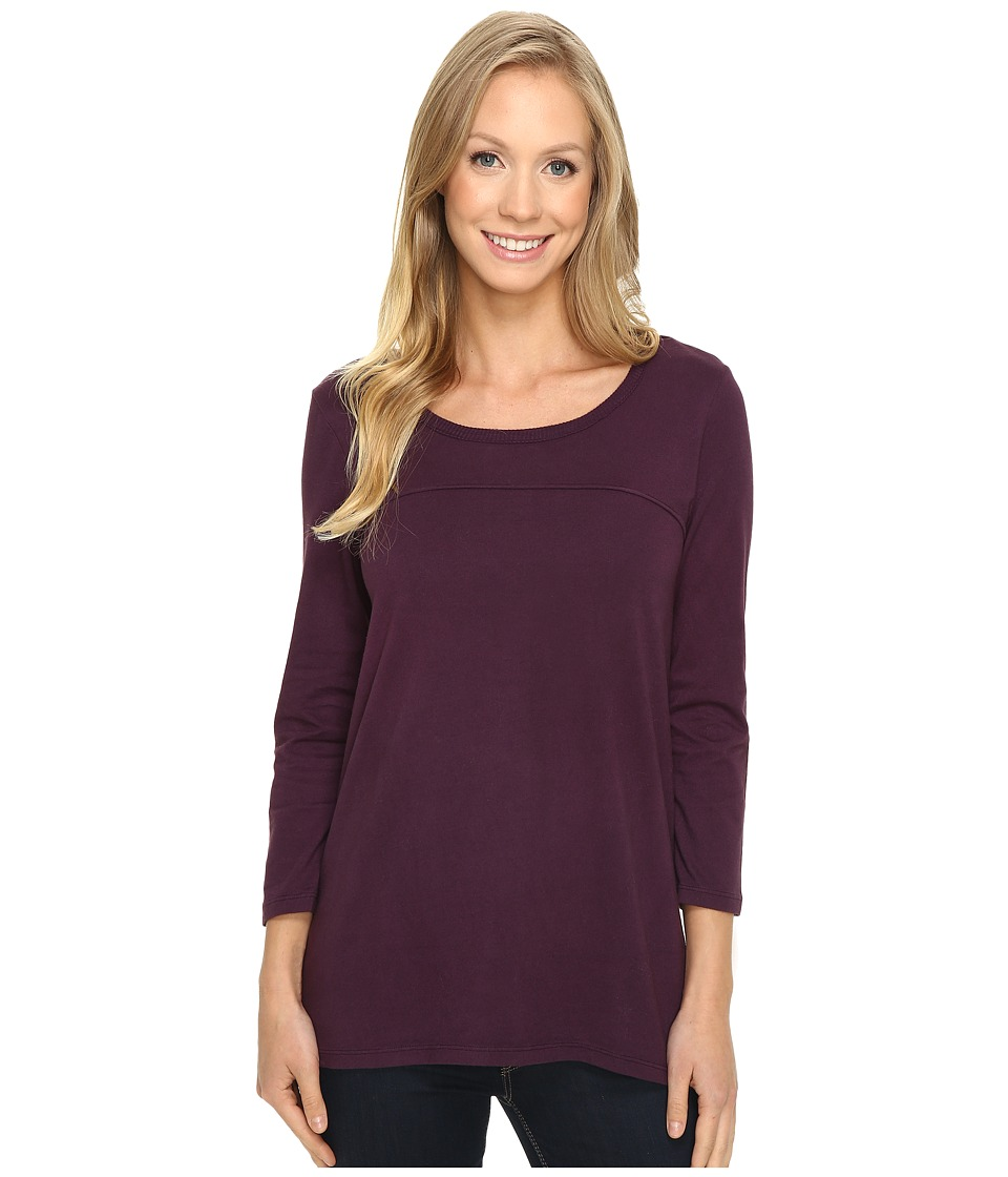Mod-o-doc - Classic Jersey Back Rib Vented Tee (Aubergine) Women's T Shirt